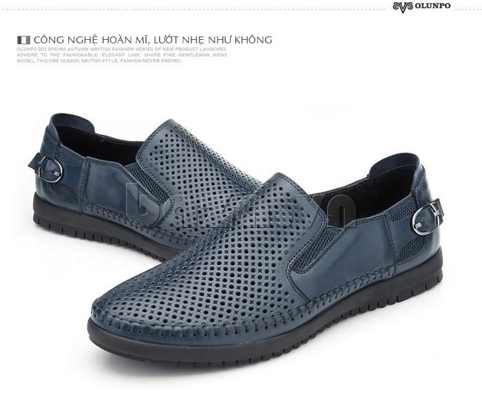 Giày Olunpo OP001 thiết kế lỗ tròn, chữ thập tạo sự cá tính mạnh mẽ