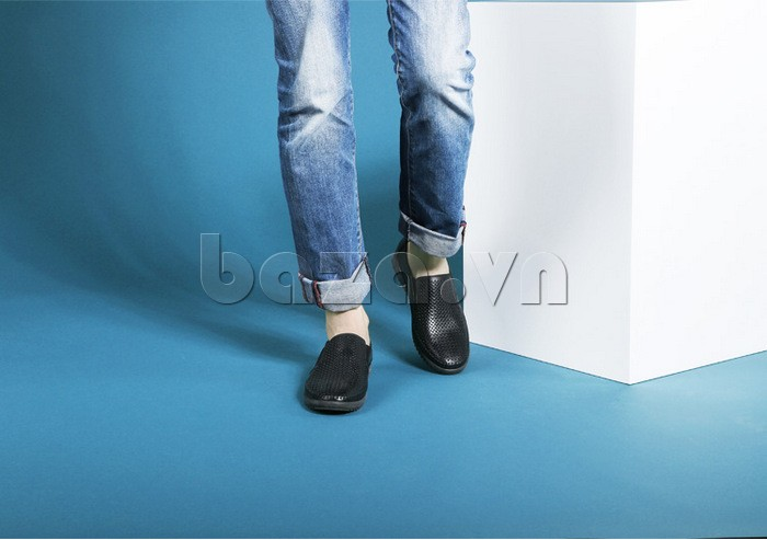 Giày Olunpo OP001 màu đen giúp nam giới có phong cách năng động