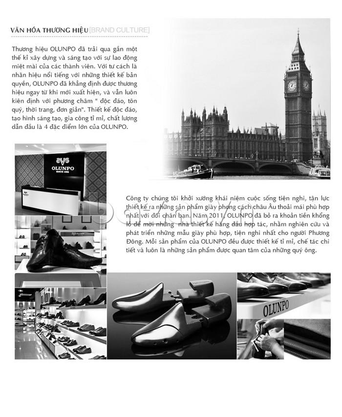 Giày Olunpo OP001 có nền văn hóa thương hiệu rất sâu sắc