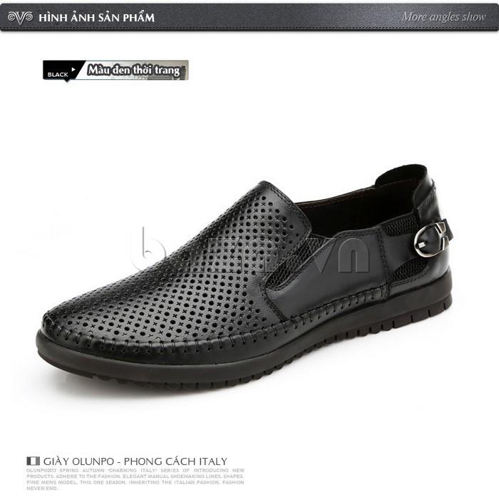 Giày Olunpo OP001 màu đen thời trang