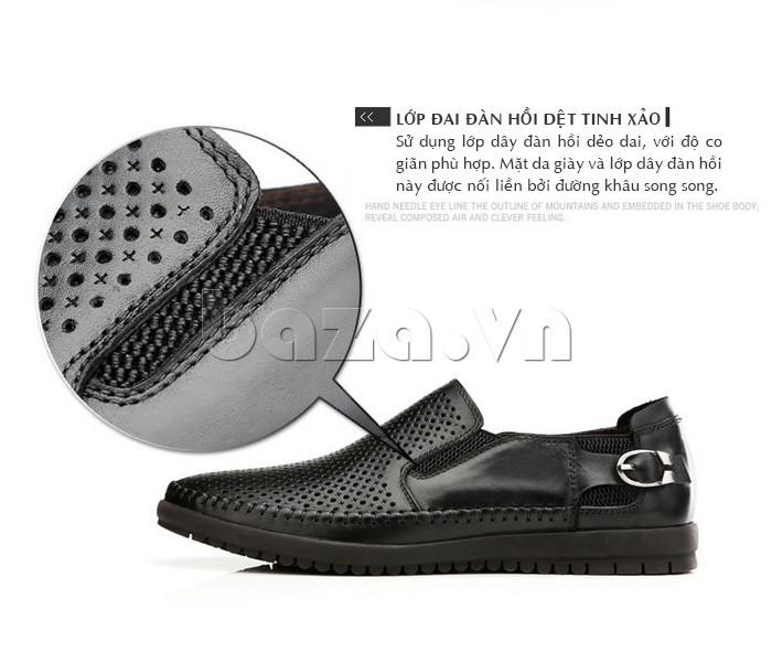 Giày Olunpo OP001 có lớp đai đàn hồi dệt tinh xảo