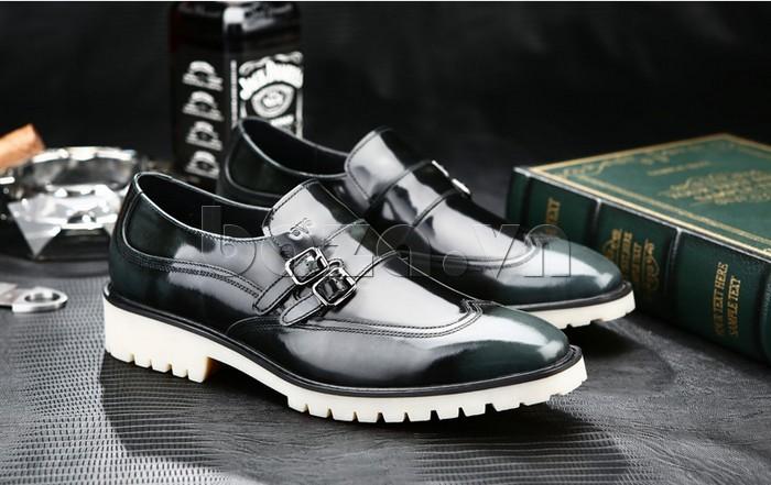 Giầy da nam thời trang Olunpo QEY1301 giày công sở thời trang