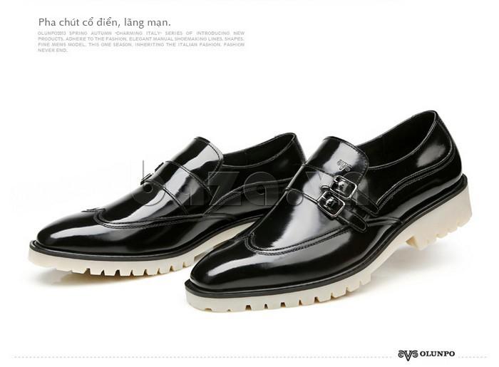 Giầy da nam thời trang Olunpo QEY1301 phong cách doanh nhân thành đạt