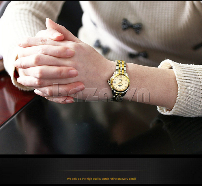 Đồng hồ thời trang nữ cao cấp Vinoce V-8079G