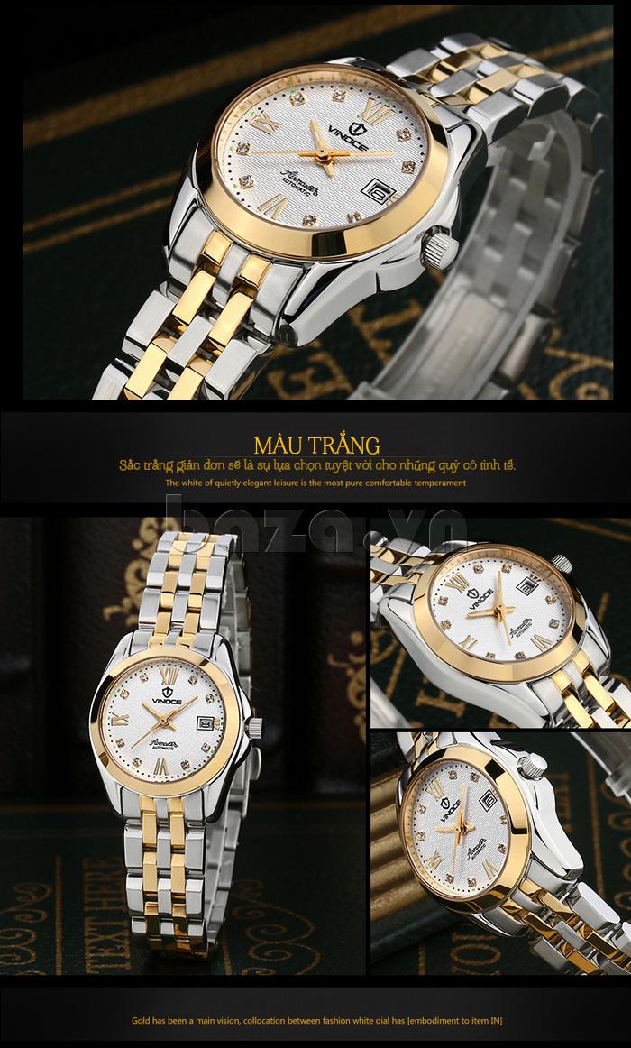 Đồng hồ nữ Vinoce V-8079G mặt vân tự nhiên
