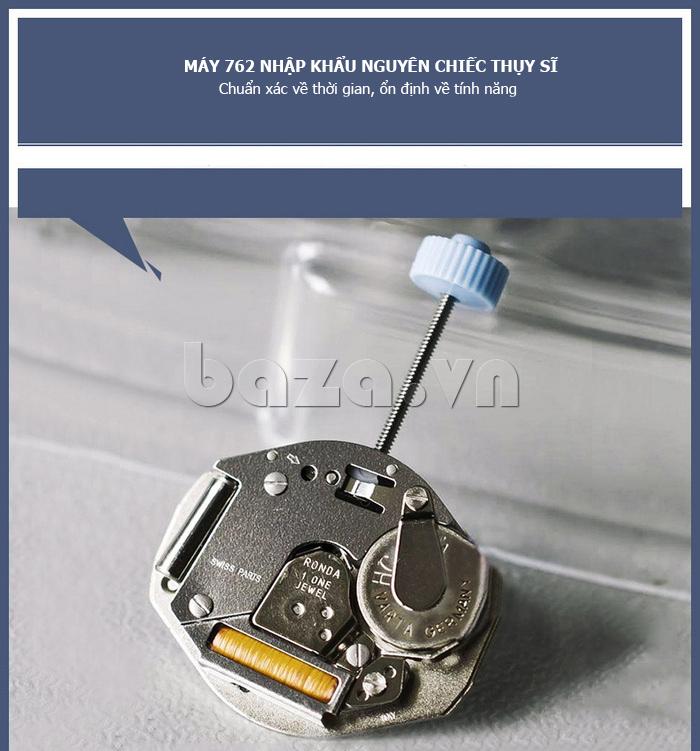 Đồng hồ nữ siêu mỏng Vinoce V8350DM dây da thật  chế tác công phu