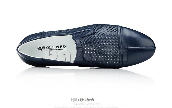 Giày lười nam viền đục lỗ Olunpo XZY1504 hiện đại