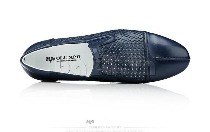 Giày lười nam viền đục lỗ Olunpo XZY1504 phong cách