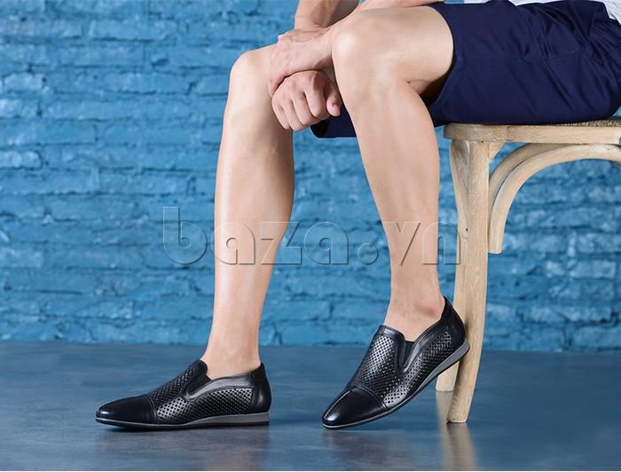 Giày lười nam viền đục lỗ Olunpo XZY1504 đẳng cấp