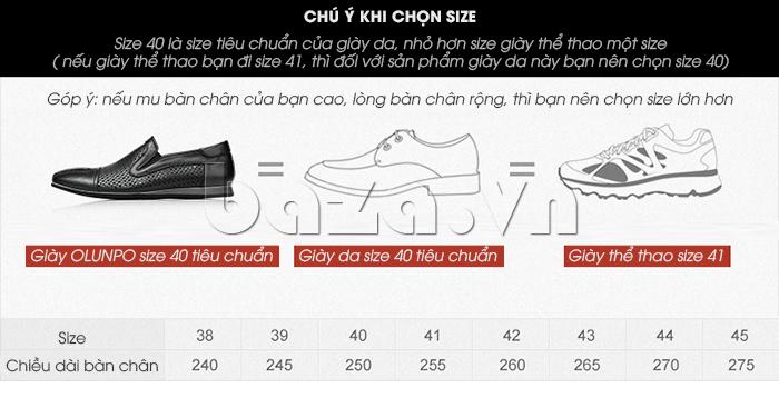 Gợi ý chọn Giày lười nam viền đục lỗ Olunpo XZY1504
