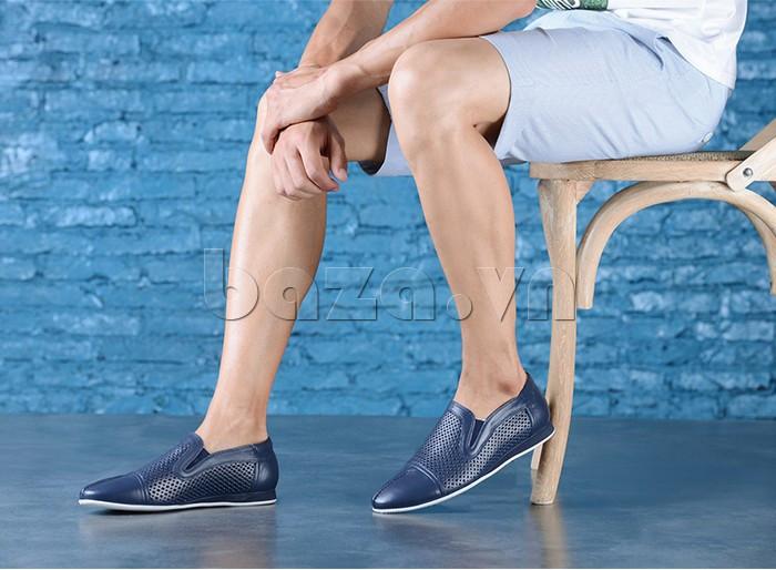 Giày lười nam viền đục lỗ Olunpo XZY1504 trẻ trung
