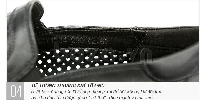 Giày lười nam viền đục lỗ Olunpo XZY1504 đục lỗ thoáng khí
