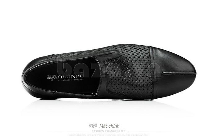 Giày lười nam viền đục lỗ Olunpo XZY1504 chắc chắn