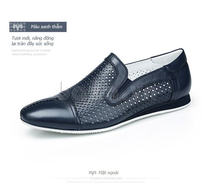 Giày lười nam viền đục lỗ Olunpo XZY1504 lịch lãm