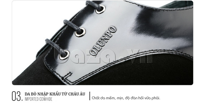Giầy da nam thời trang Olunpo QLXS1410 thiết kế tinh tế