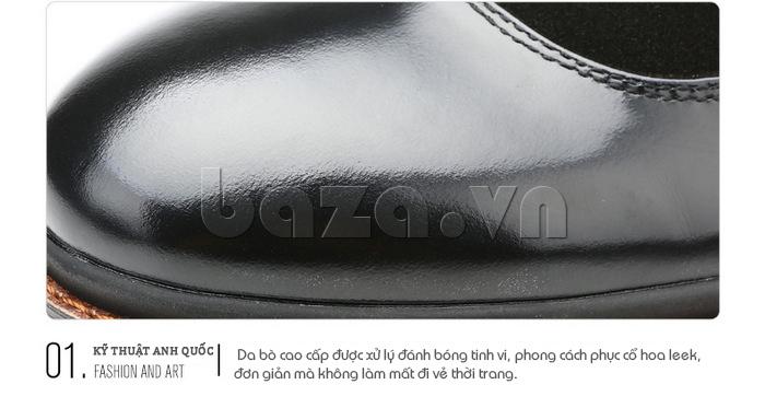Giầy da nam thời trang Olunpo QLXS1410 sử dụng kxy thuật anh quốc