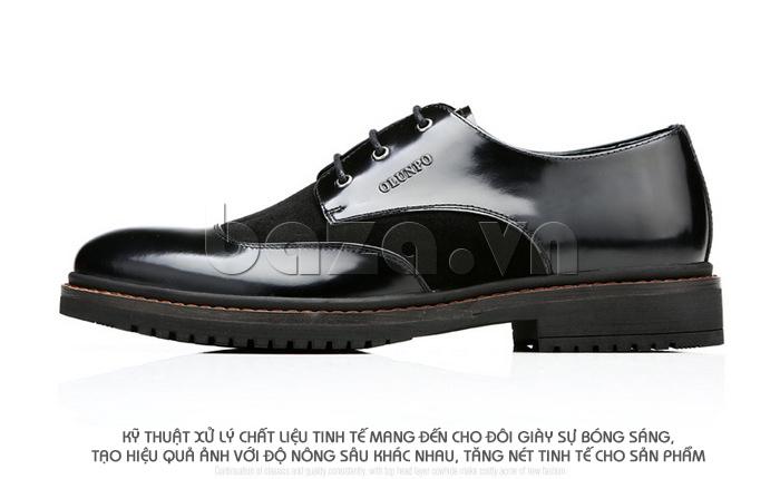 Giầy da nam thời trang Olunpo QLXS1410 kỹ thuật xử lý da tinh tế