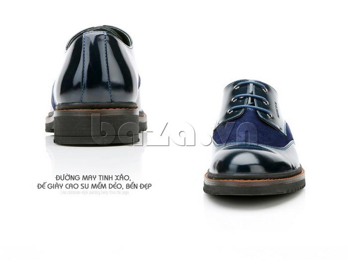 Giầy da nam thời trang Olunpo QLXS1410 da giày bóng sáng
