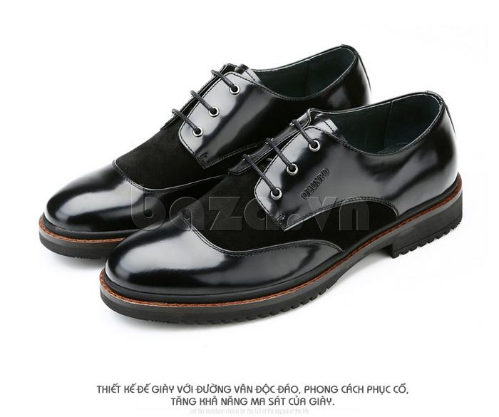 Giầy da nam thời trang Olunpo QLXS1410 tăng ma sát cho giày
