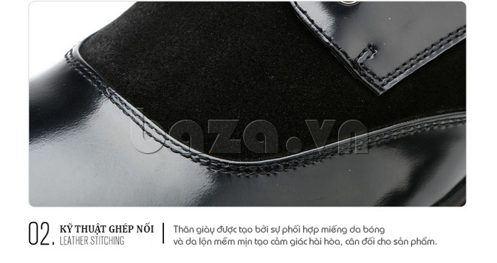 Giầy da nam thời trang Olunpo QLXS1410 sử dụng da bò cao cấp