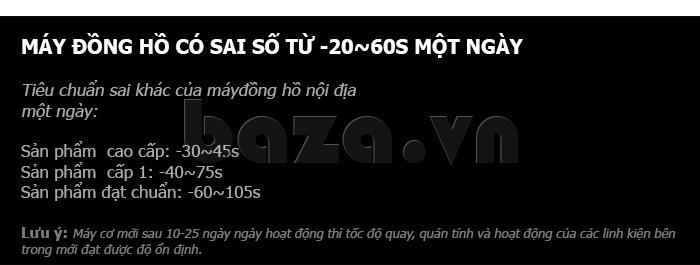 Đồng hồ cơ nam Vinoce V633229L mặt kính sapphire tinh tế