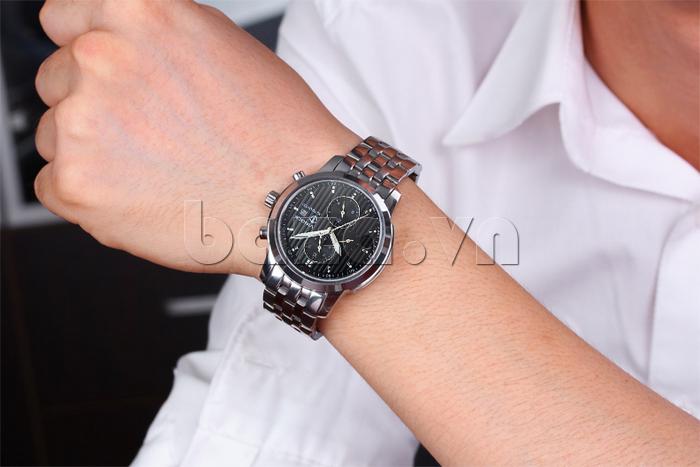 Đồng hồ cơ nam Vinoce V633229L mặt kính độc