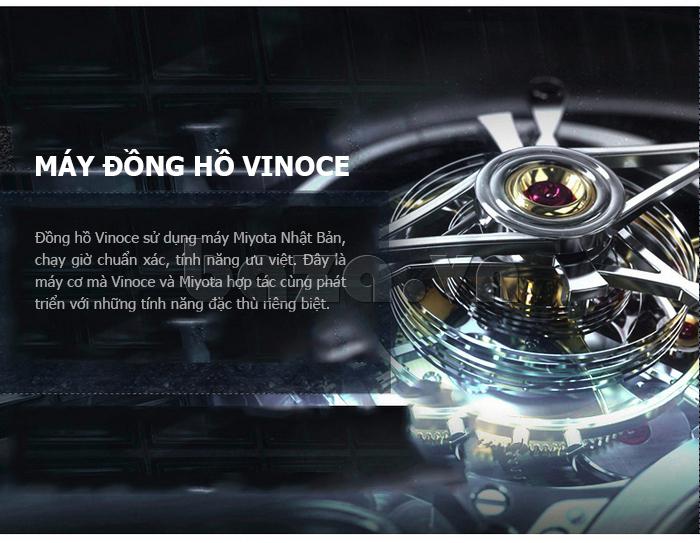 Đồng hồ cơ nam Vinoce V633229L mặt kính sapphire hoàn hảo