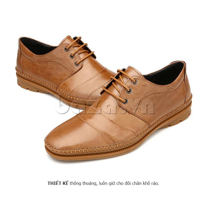 Giày da nam Olunpo QABA1410 màu nâu sang trọng
