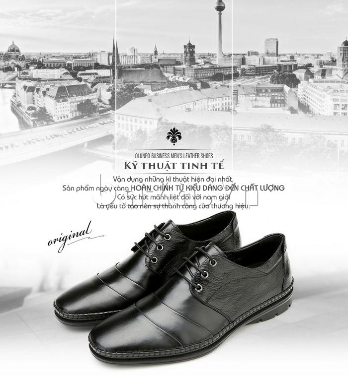 Giày da nam Olunpo QABA1410 cao cấp và thời trang