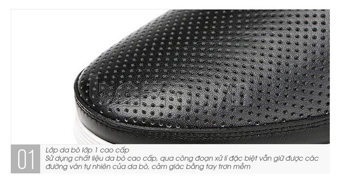 Giày lười nam thời trang Olunpo XZY1506 - chất liệu da bò hảo hạng