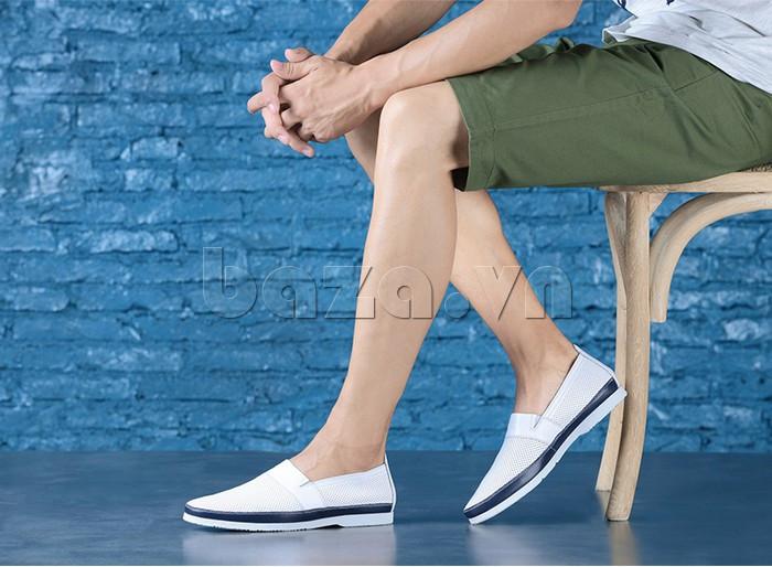 Giày lười nam thời trang Olunpo XZY1506 - nâng niu bàn chân Việt