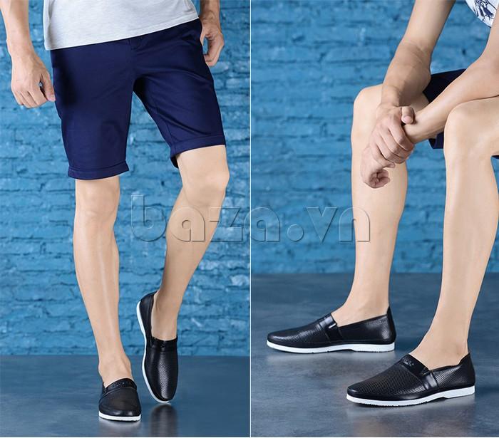 Giày lười nam thời trang Olunpo XZY1506 ấn tượng và lôi cuốn