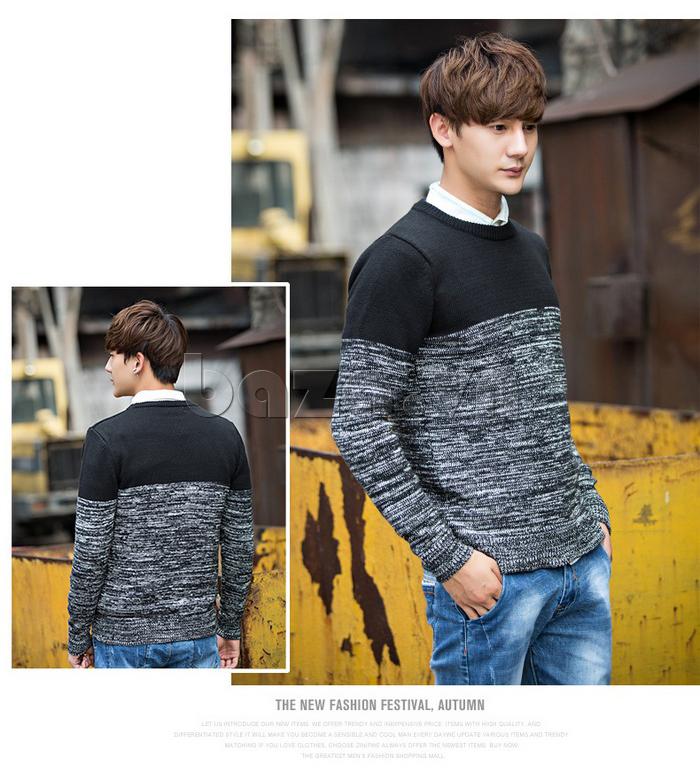 Áo len nam phối màu No1Dara MY05032 giữ ấm tốt
