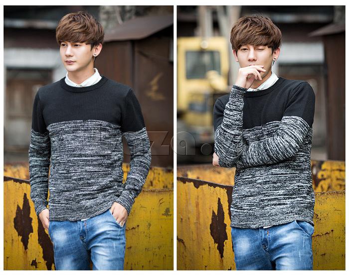 Áo len nam phối màu No1Dara MY05032 chất lượng cao