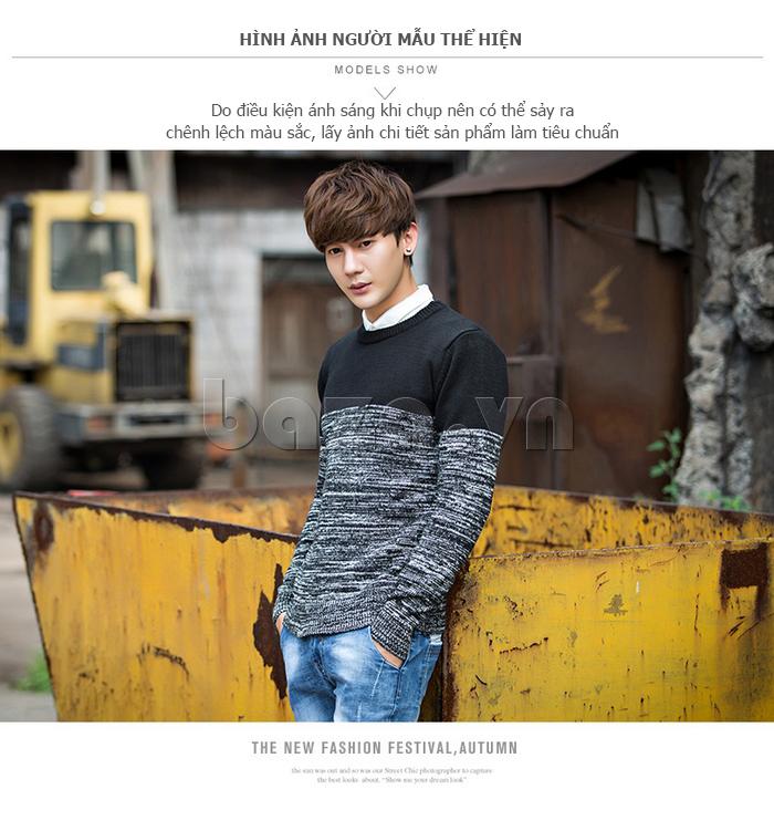 Áo len nam phối màu No1Dara MY05032 tinh tế