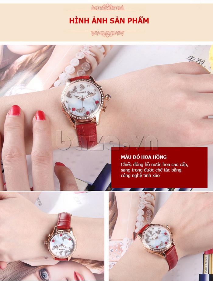 Đồng hồ nữ nước hoa đính pha lê Vinoce V6277L hình ảnh sang trọng, thanh lịch