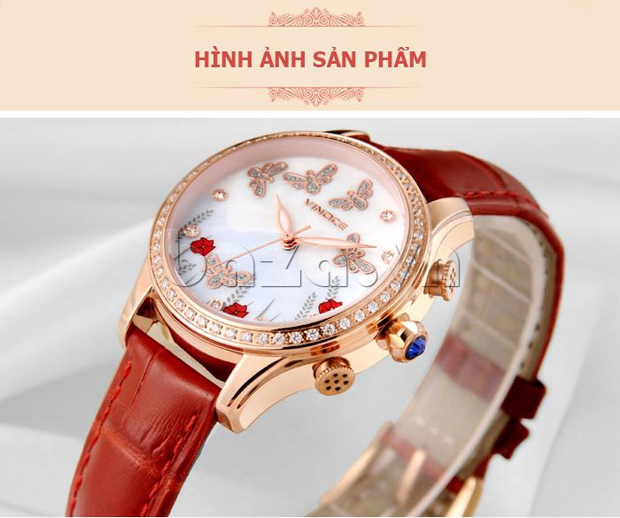 Đồng hồ nữ nước hoa đính pha lê Vinoce V6277L tuyệt tác đồng hồ hiệu nữ