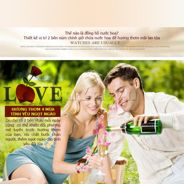 Đồng hồ nữ nước hoa đính pha lê Vinoce V6277L đồng hồ nước hoa mới lạ