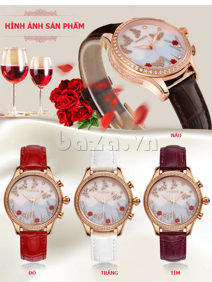 Đồng hồ nữ nước hoa đính pha lê Vinoce V6277L - hình ảnh sản phẩm