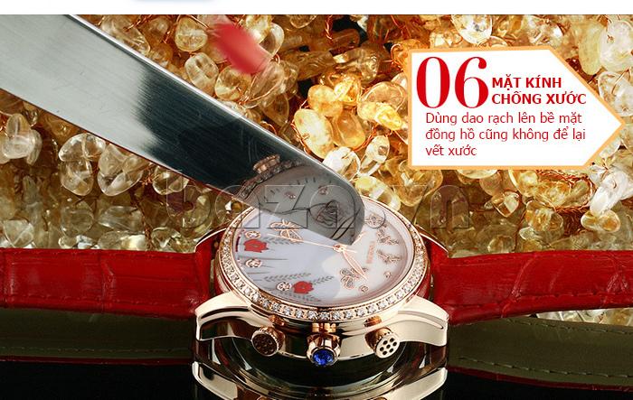 Đồng hồ nữ nước hoa đính pha lê Vinoce V6277L mặt kính chống xước