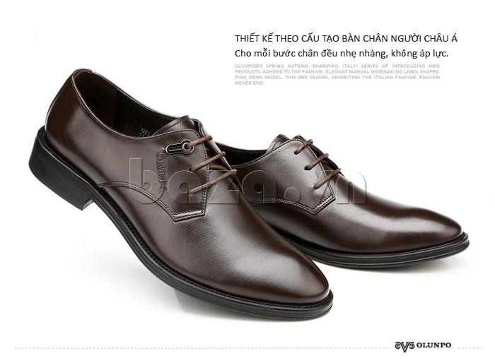 giày da Olumpo QYS1301 được thiết kế theo cấu tạo chân của người Châu á