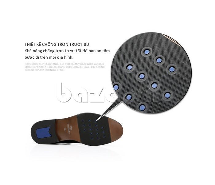 giày da Olumpo QYS1301 được thiết kế chống trơn trượt 3D