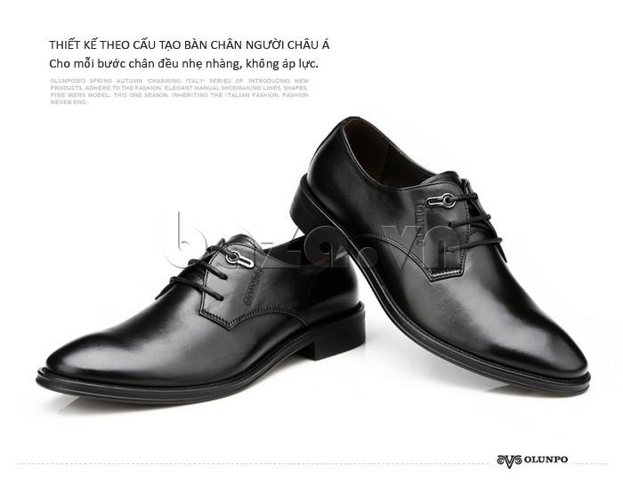 giày da Olumpo QYS1301 được thiết kế độc đáo giúp chân không bị áp lực và mỏi mệt