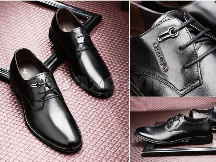 giày da Olumpo QYS1301 màu đen thu hút khẳng định đẳng cấp cho nam giới