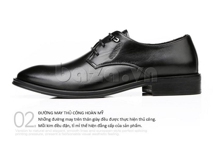 giày da Olumpo QYS1301 có đường may thủ công hoàn mỹ