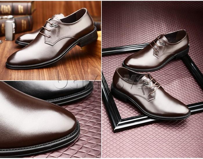 giày da Olumpo QYS1301 có vẻ ngoài hào hoa giúp các chàng tăng tính lịch thiệp và quyến rũ