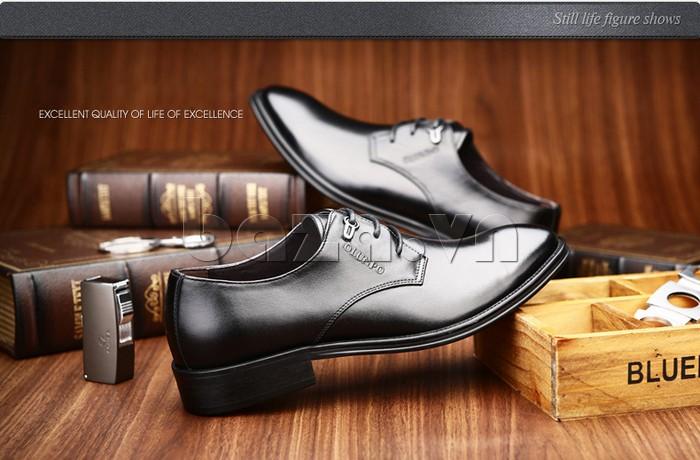 giày da Olumpo QYS1301 khẳng định phong cách doanh nhân thành đạt cho quý ông