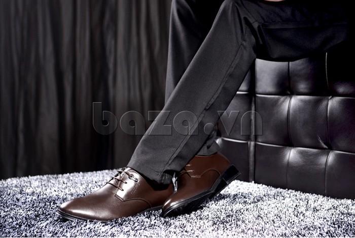 chọn giày da Olumpo QYS1301 làm giày cưới độc đáo