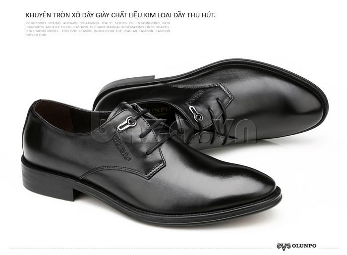 giày da Olumpo QYS1301 khuyên xỏ giày làm từ kim loại tốt sáng bóng, không hoen gỉ