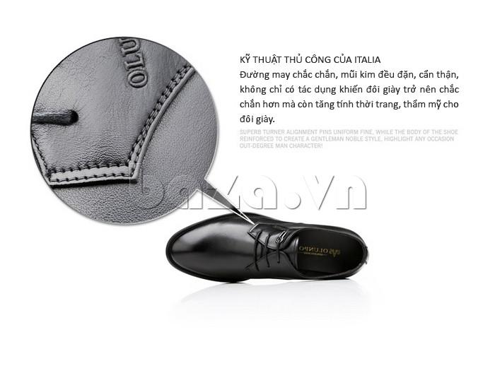 giày da Olumpo QYS1301 được sử dụng kỹ thuật may thủ công của Italia
